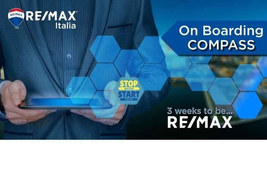 <p>Tra le iniziative formative che RE/MAX Italia ha progettato, c&#39;&egrave; anche il <strong>corso online di 3 settimane &quot;On Boarding COMPASS | Preview&quot;</strong>: un percorso formativo per scoprire&nbsp;le opportunit&agrave; che la <strong>carriera immobiliare </strong>pu&ograve;&nbsp;offrire! Lo slogan&nbsp;del pogetto &egrave; &quot;<em>3 weeks to be...</em>&quot; e abbiamo dato la possibilit&agrave; ad ogni nostra agenzia di diffondere il messaggio completandolo con un obiettivo a scelta.&nbsp;Tre settimane per essere <strong>SPECIALIZZATI</strong>, <strong>FOCALIZZATI</strong>, <strong>VINCENTI</strong>, <strong>PIU&rsquo; FORTI DI PRIMA</strong>&hellip; a loro la scelta. <strong>II&nbsp;corso &egrave; gratuito ed &egrave; aperto a&nbsp;chiunque sia interessato al settore immobiliare.</strong>&nbsp;</p>