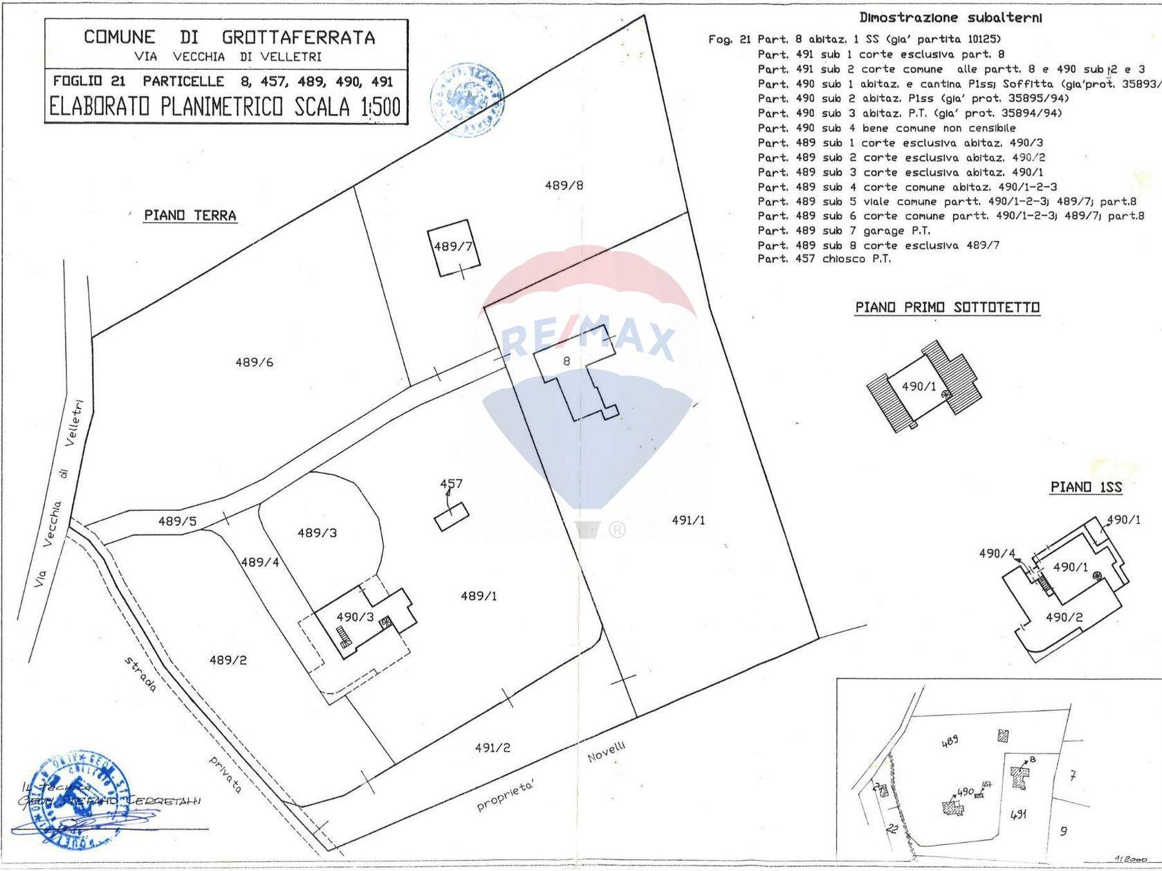 Villa singola Grottaferrata, RM Vendita - Planimetria 1