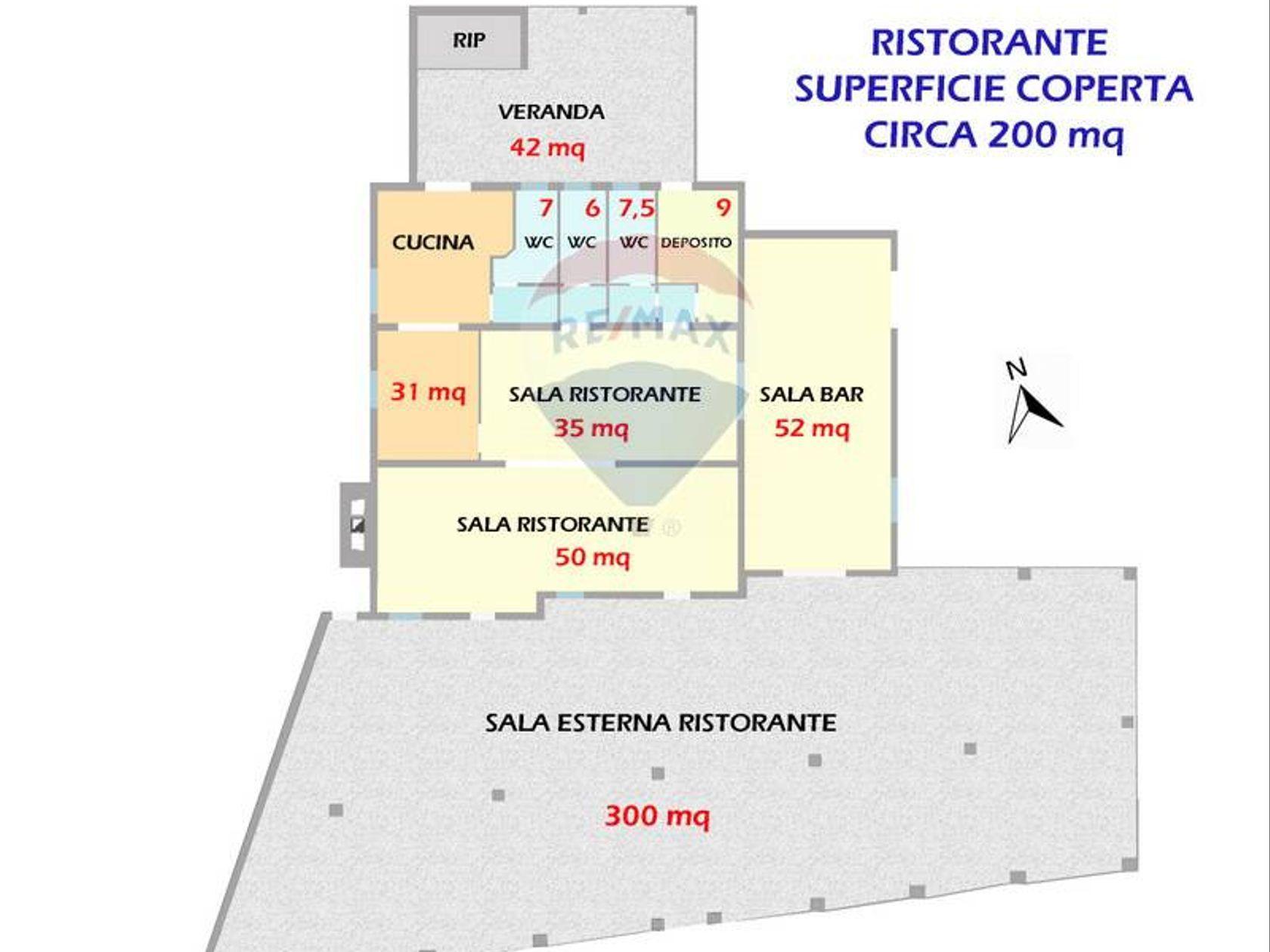 Ristorante Zona Santa Margherita, Pula, CA Vendita - Planimetria 1