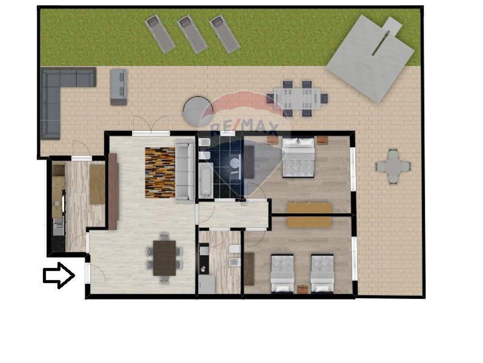Appartamento Villa Adriana, Tivoli, RM Vendita - Planimetria 1