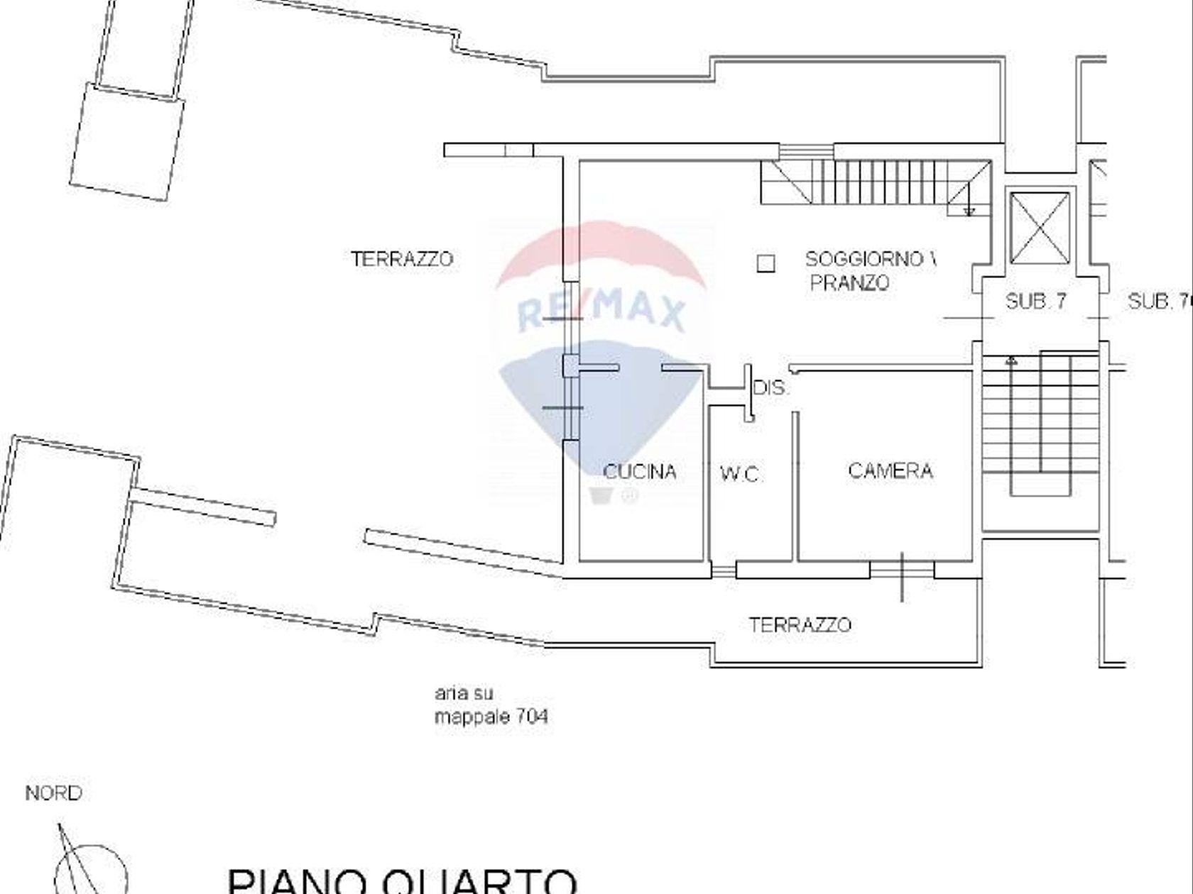 Attico/Mansarda Carrara, MS Vendita - Planimetria 1