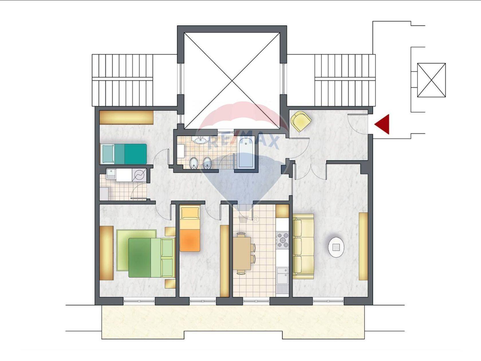 Appartamento Zona Ospedale, Pescara, PE Vendita - Planimetria 2