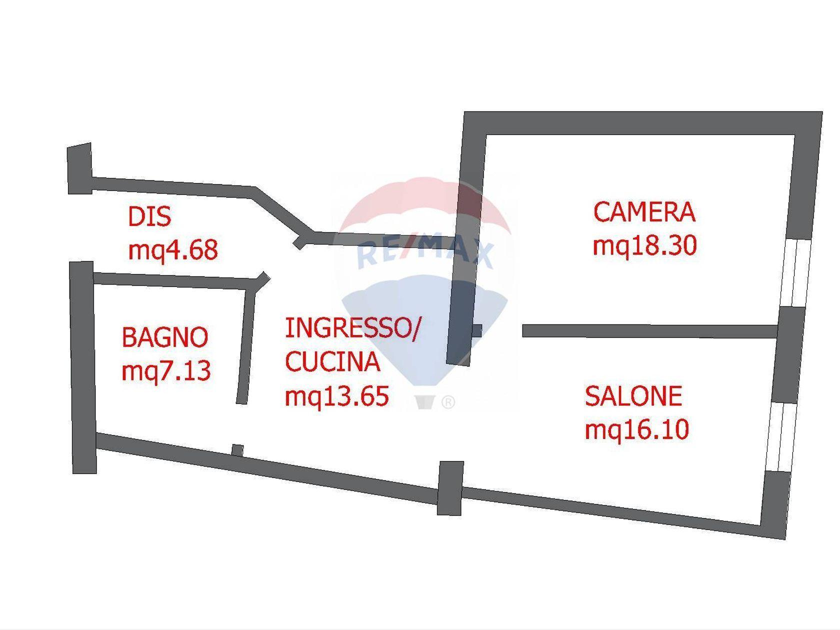 Appartamento Villanova-Castello, Cagliari, CA Vendita - Planimetria 1