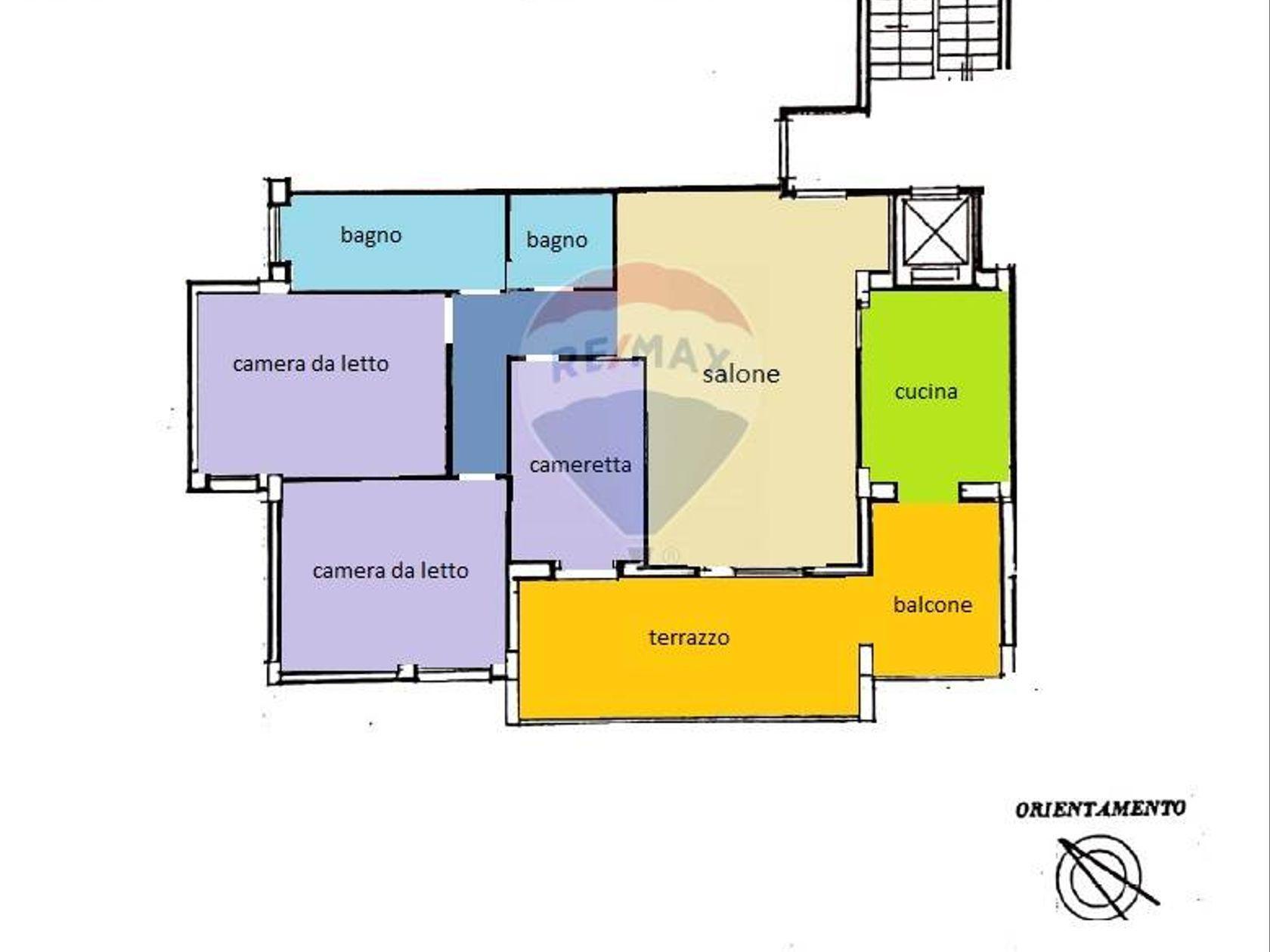 Appartamento Pisana, Roma, RM Vendita - Planimetria 1