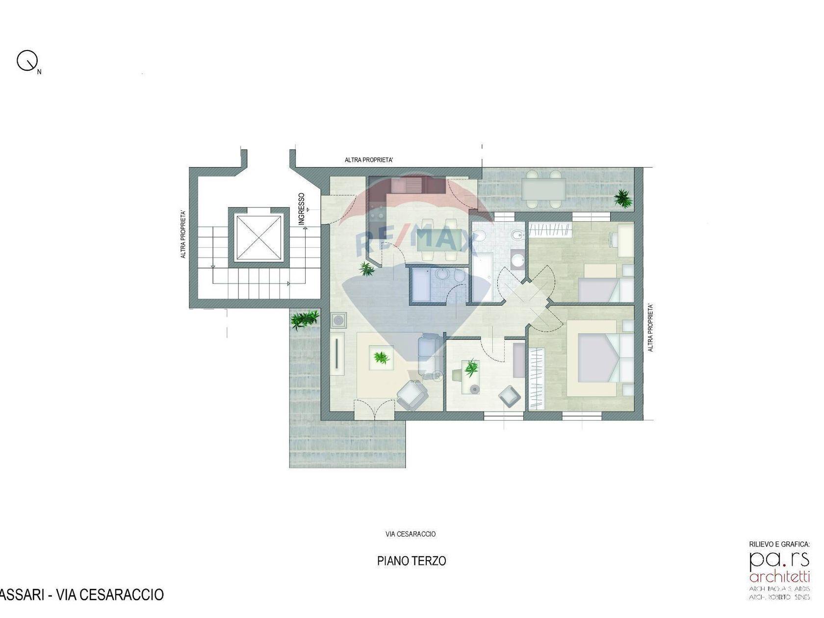 Appartamento Ss-s. Orsola Storica, Sassari, SS Vendita - Planimetria 1