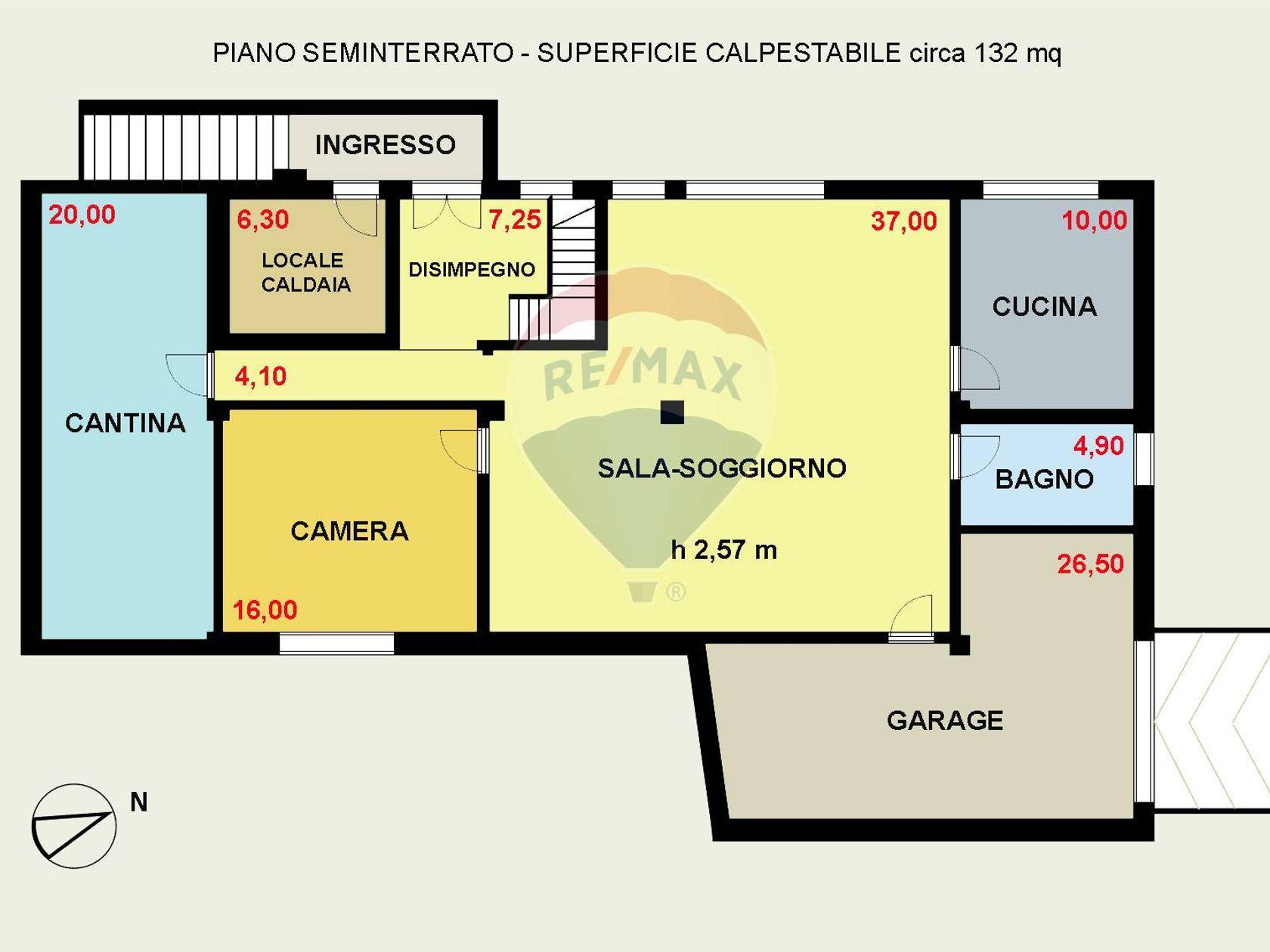 Villa singola Cagliari-quartiere Europeo, Cagliari, CA Vendita - Planimetria 3