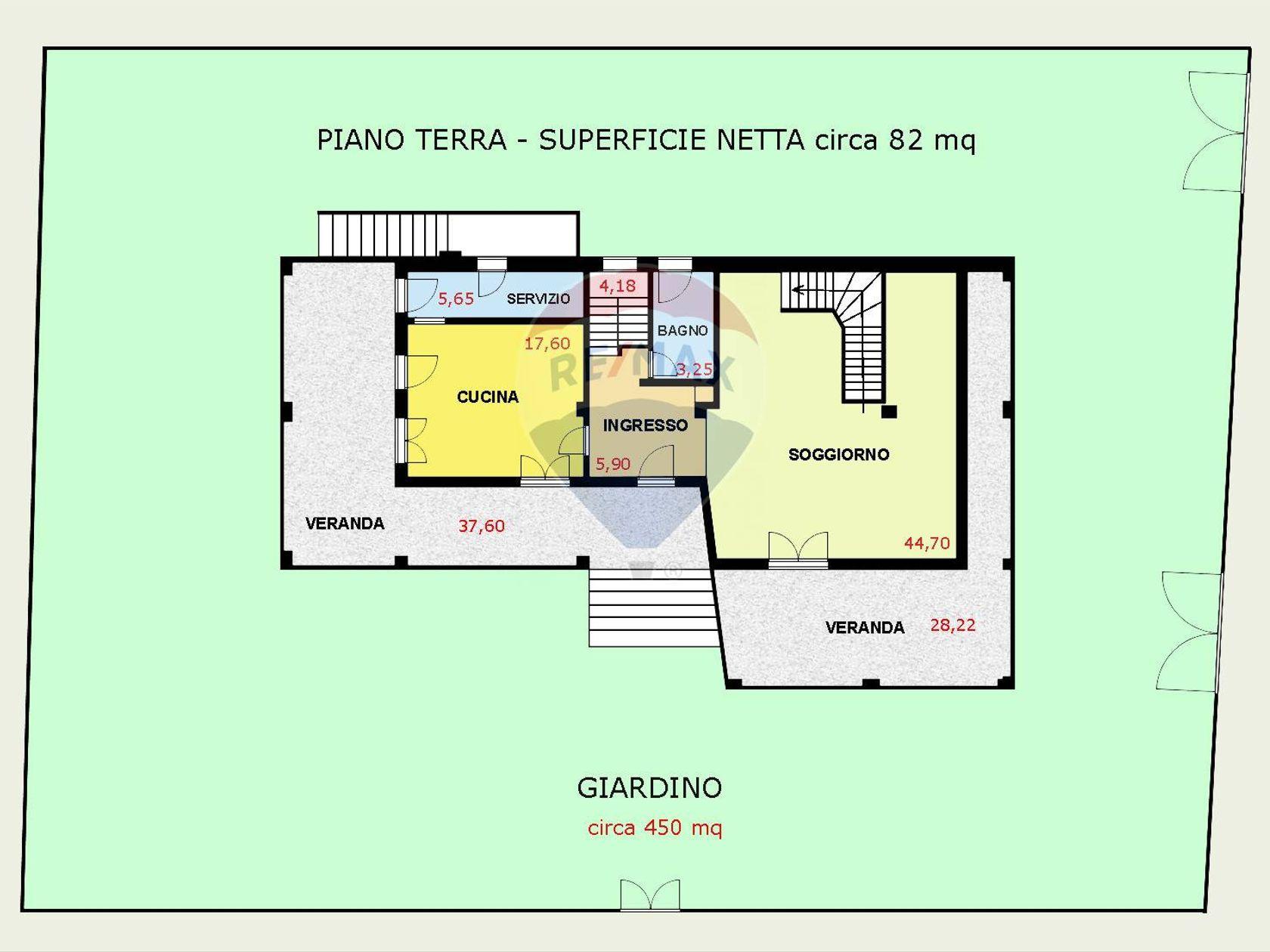 Villa singola Cagliari-quartiere Europeo, Cagliari, CA Vendita - Planimetria 1