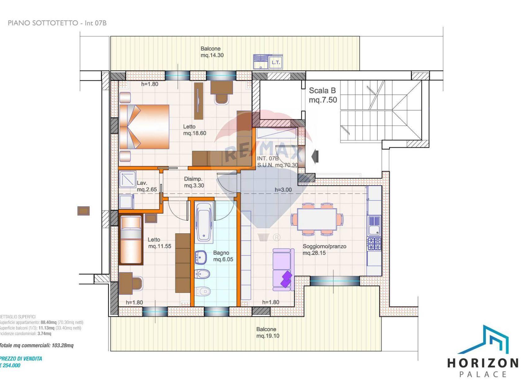Appartamento Porta Nuova, Pescara, PE Vendita - Planimetria 1