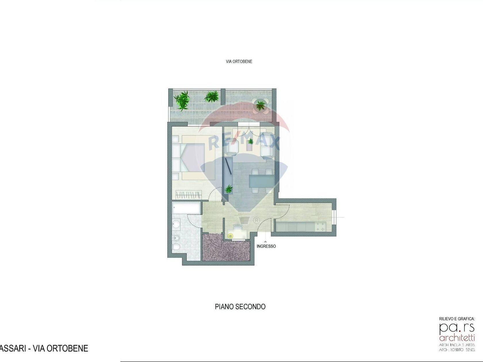 Appartamento Ss-s.orsola Nord, Sassari, SS Vendita - Planimetria 1