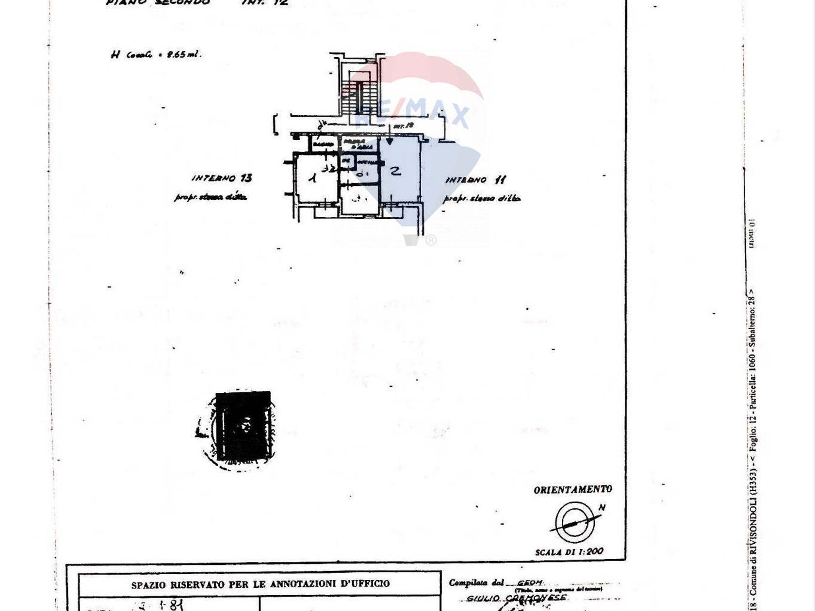 Appartamento Rivisondoli, AQ Vendita - Planimetria 1