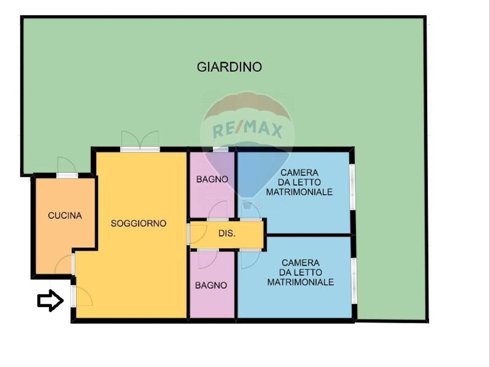 Appartamento Villa Adriana, Tivoli, RM Vendita - Planimetria 2